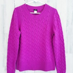 J Crew Cable Wool Blend Sweater